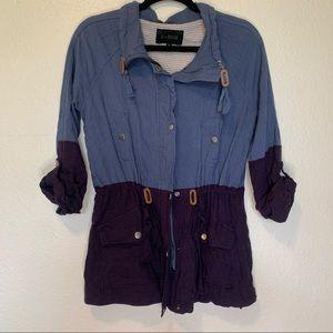 Blu Pepper Blue & Purple Utility Jacket Medium